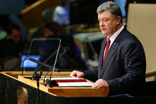 Ukrainian President Petro Poroshenko on Thursday issued an order for troops in the Russian-annexed Crimea and in the eastern Donbass region to be placed on high alert following allegations by Russian President Vladimir Putin that Ukraine launched attacks on Russians in Crimea. File Photo by Monika Graff/UPI