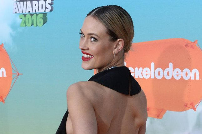 Peta Murgatroyd attend the Nickelodeon Kids' Choice Awards on March 12, 2016. The dancer and fiancé Maksim Chmerkovskiy welcomed son Shai in January. File Photo by Jim Ruymen/UPI