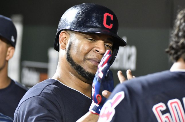 Edwin Encarnacion and the Cleveland Indians defeated the Baltimore Orioles on Friday to win their 16th straight game. Photo by David Tulis/UPI