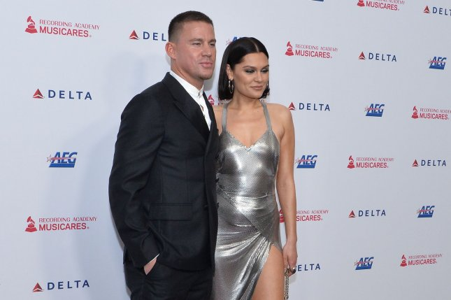 Actor Channing Tatum and English singer and songwriter Jessie J arrive for the MusiCares Person of the Year gala honoring Aerosmith at the Los Angeles Convention Center in Los Angeles on Friday. Photo by Jim Ruymen/UPI