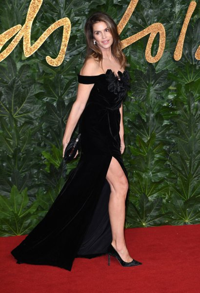 Cindy Crawford attends the Fashion Awards at Royal Albert Hall in London on December 10, 2018. The model turns 54 on February 20. File Photo by Rune Hellestad/UPI