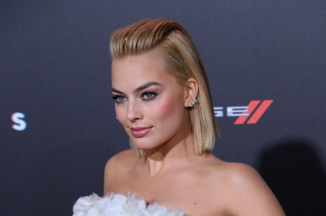 Margot Robbie was spotted this week on the 'Suicide Squad' set. File photo by Jim Ruymen/UPI