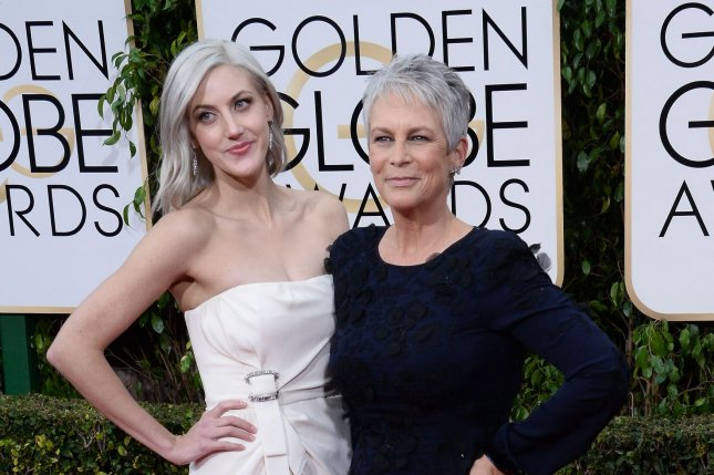 Jamie Lee Curtis (R) and daughter Annie Guest at the Golden Globe Awards on Sunday. Photo by Jim Ruymen/UPI