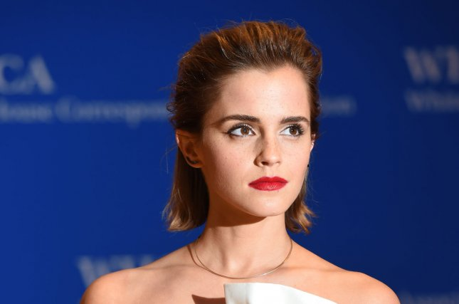 Actress Emma Watson arrives on the red carpet prior to the White House Correspondents Association Dinner at the Washington Hilton in Washington, DC, on April 30, 2016. Watson was embarassed when her phone went off during a recent interview revealing her Tina Turner ringtone. File Photo by Molly Riley/UPI