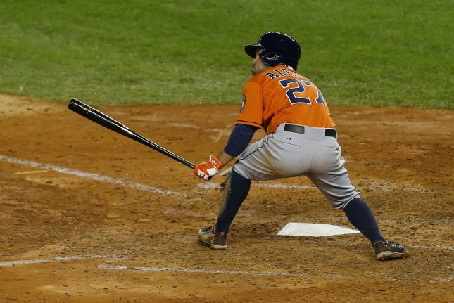 Jose Altuve of the Houston Astros. Photo by Mike Stobe/UPI