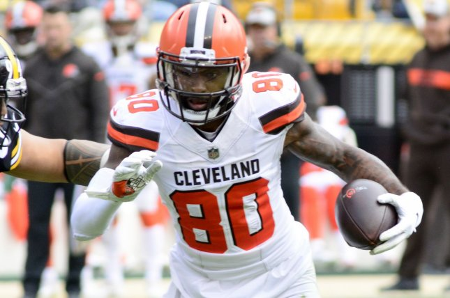 Cleveland Browns wide receiver Jarvis Landry had six catches for 52 yards in the Browns' loss to the Baltimore Ravens on Monday night. File Photo by Archie Carpenter/UPI