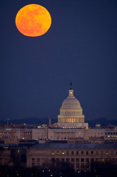 Scientists confirm it's harder to sleep during a full moon The full Moon and the U.S. Capitol in Washington. UPI/Bill Engalls/NASA