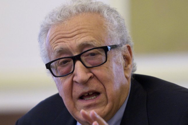 UN-Arab League Special Envoy to Syria Lakhdar Brahimi, pictured in October 2013, spoke at a press conference on February 11, 2013 in Geneva to report on the progress of the Geneva II Syria peace talks. (UPI/Maryam Rahmanian)