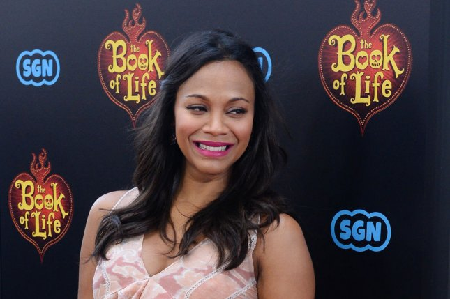 Actress Zoe Saldana will be one of the presenters at the upcoming 87th Academy Awards ceremony. File photo by Jim Ruymen