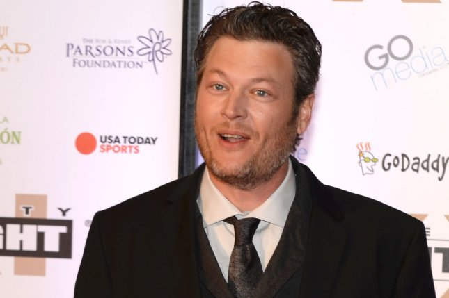 Country music star Blake Shelton arrives on the red carpet for the Muhammad Ali Celebrity Fight Night at the Marriott Desert Ridge Resort in Phoenix, Ariz., March 28 2015. File Photo by Art Foxall/UPI