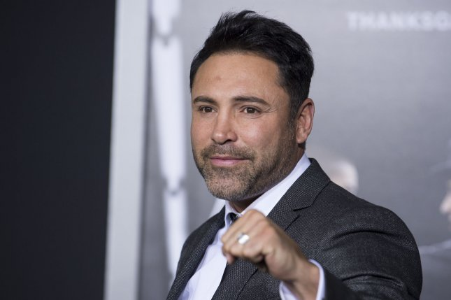 Oscar De La Hoya attends the premiere of the film Creed held at the Regency Village Theatre in the Westwood area of Los Angeles on November 19, 2015. Photo by Phil McCarten/UPI