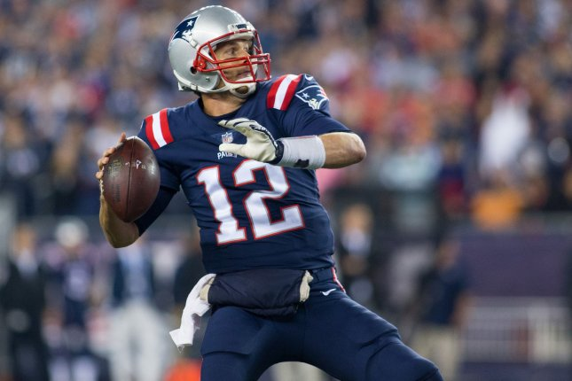 Tom Brady and the New England Patriots visit the Miami Dolphins on Monday night. Photo by Matthew Healey/UPI