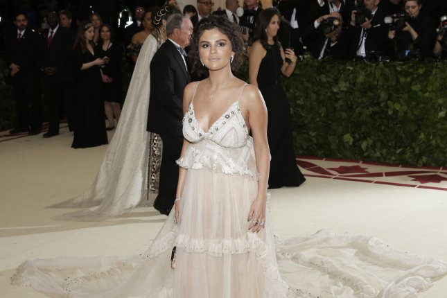 Selena Gomez arrives on the red carpet at The Metropolitan Museum of Art's Costume Institute Benefit on May 7. Photo by John Angelillo/UPI