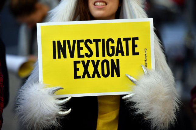The New York attorney general's office said fraud at ExxonMobil rose to the highest ranks, including former CEO Rex Tillerson. File Photo by Kevin Dietsch/UPI