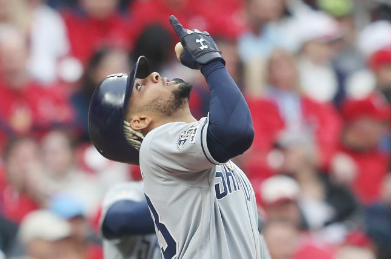 San Diego Padres slugger Fernando Tatis Jr. has 18 home runs and 44 RBIs this season. File Photo by Bill Greenblatt/UPI
