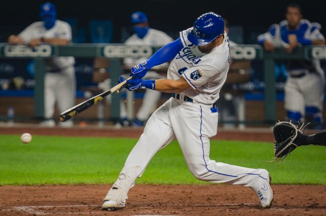 Kansas City Royals outfielder Alex Gordon spent his entire MLB career with the Royals. He won a World Series championship with the club in 2015. File Photo by Kyle Rivas/UPI