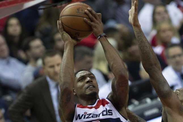 Washington Wizards guard Bradley Beal scored 22 points in the fourth quarter to help his team beat the Brooklyn Nets on Sunday in Washington, D.C. File Photo by Alex Edelman/UPI