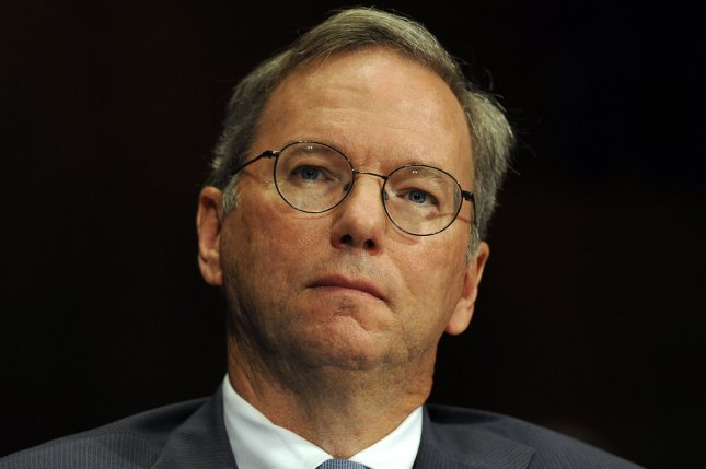Former Google CEO Eric Schmidt said that the courts were wrong not to balance the right to be forgotten with the right to know. UPI/Roger L. Wollenberg