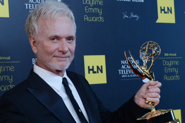 Anthony Geary appears backstage with the Best Actor in a Drama award he won for General Hospital at the 39th annual Daytime Emmy Awards in Beverly Hills, Calif. on June 23, 2012. Photo by Jim Ruymen/UPI