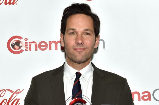 Actor Paul Rudd attends The Big Screen Achievement Awards at Caesars Palace during CinemaCon, the official convention of the National Association of Theatre Owners, in Las Vegas on April 23, 2015. Photo by David Becker/UPI