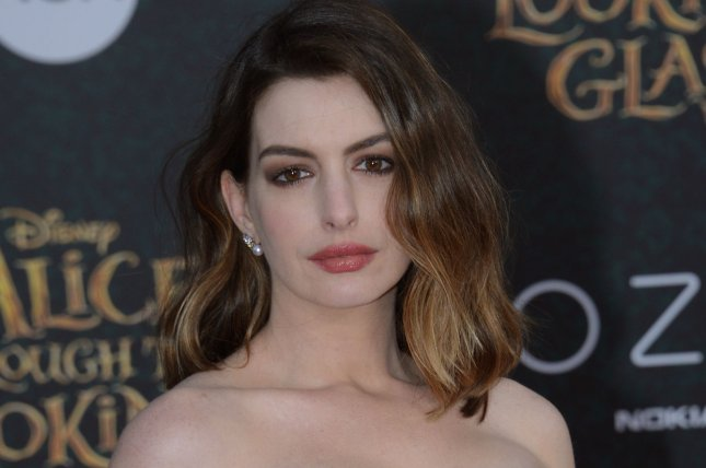Anne Hathaway attends the premiere of Alice Through the Looking Glass on May 23, 2016. Hathaway may potentially star in an upcoming Barbie movie. File Photo by Jim Ruymen/UPI