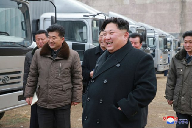 South Korea's military said Wednesday in Seoul that North Korea has fired a ballistic missile, its first provocation from Kim Jong Un, shown here visiting a motor complex last week, in 75 days. Photo courtesy of KCNA/UPI