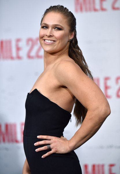 Ronda Rousey attends the premiere of 'Mile 22' at the Westwood Village Theater in Los Angeles on August 9. She turns 32 on Feb 2. File Photo by Chris Chew/UPI