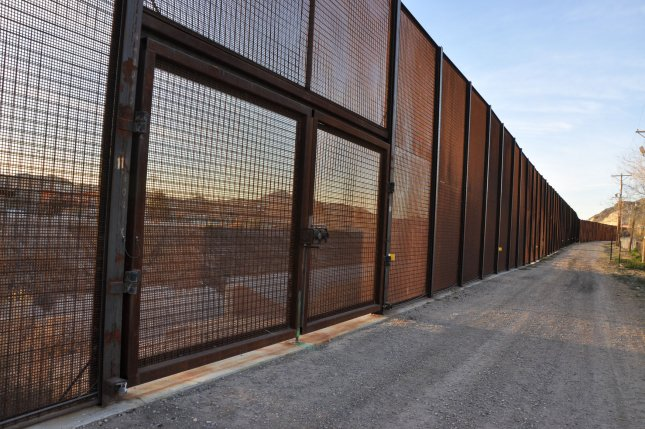 Downtown Juarez, Mexico, is easily visible through the border fence that runs just behind Doniphan Park in El Paso, Texas. File Photo by Natalie Krebs/UPI