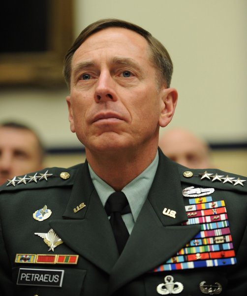 U.S. Army Gen. David Petraeus, Commander, U.S. Central Command, testifies before the House Armed Services Committee on the Fiscal Year 2011 budget on Capitol Hill in Washington on March 17, 2010. UPI/Roger L. Wollenberg