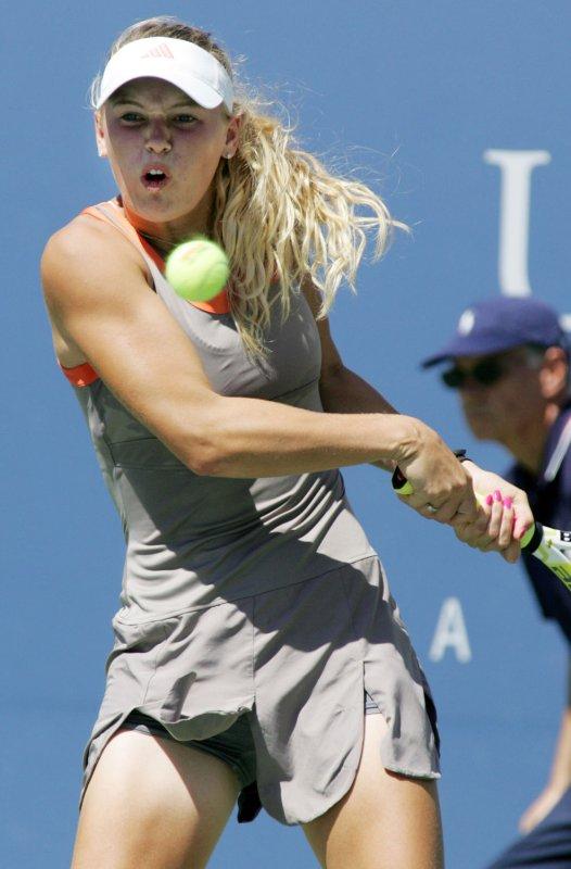 Caroline Wozniacki of Denmark, shown during the U.S. Open Aug. 31, 2008. (UPI Photo/Monika Graff)