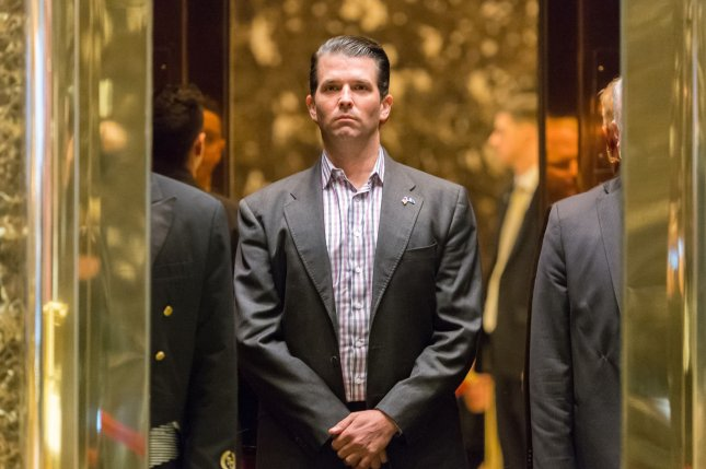 Donald Trump Jr. was told possibly damaging information about Hillary Clinton he was to receiving in a meeting with a Russian lawyer was part of a Russian government effort to help his father win the 2016 U.S. presidential election. File Photo by Albin Lohr-Jones/Pool