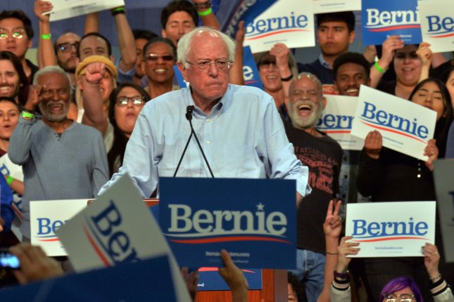 Democratic presidential candidate Bernie Sanders espouses socialist ideas.  Photo by Jim Ruymen/UPI