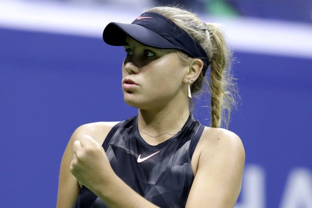 Sofia Kenin posted a 16-2 record in three Grand Slam appearances in 2020 en route to WTA Player of the Year honors. File Photo by John Angelillo/UPI