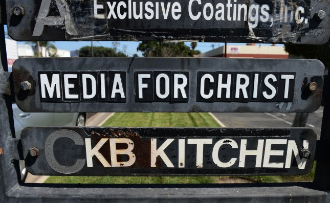 Directional signage at a commercial office park lists the Christian non-profit organization Media for Christ (second from top) in Duarte, California on September 14, 2012. Media for Christ is the group that obtained a permit to shoot the anti-Muslim video Innocence of Muslims, said Paul Audley, president of FilmL.A., the agency that processes regional on-location film permits. Media for Christ describes itself as an evangelical Christian group, according to federal tax documents. The 13-minute English-language video has stoked violent protests in the Islamic world against the United States. UPI/Jim Ruymen