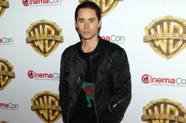 Jared Leto arrives for the Warner Bros. Pictures Presentation at CinemaCon 2016 on April 12, 2016. Leto will portray The Joker in the upcoming film Suicide Squad. The character, according to director David Ayer, has a set of tattoos that tell a very specific story. File Photo by James Atoa/UPI