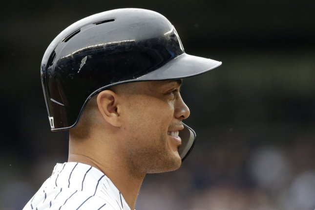 Giancarlo Stanton and the New York Yankees take on the Toronto Blue Jays on Friday. Photo by John Angelillo/UPI