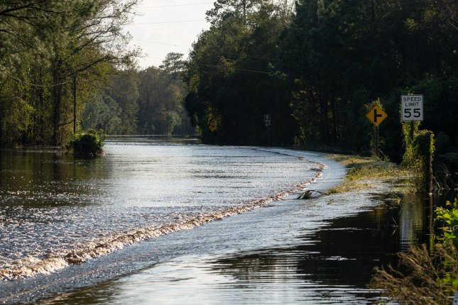 Hundreds of roads in North Carolina and South Carolina remained closed due to flooding from Hurricane Florence. Photo by Ken Cedeno/UPI