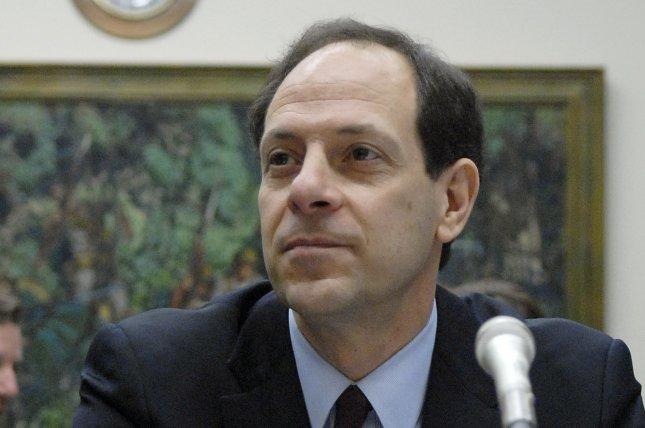Acting Pentagon Inspector General Glenn Fine, shown in 2007 hearing, was removed by President Donald Trump this week. Photo by Kevin Dietsch/UPI