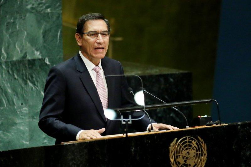 Peru President Martin Vizcarra said Monday he would not challenge Congress' vote to impeach him. Photo by Monika Graff/UPI