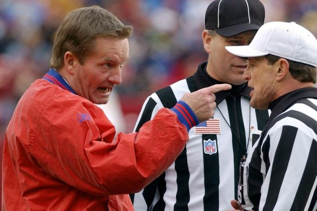 Former coach Jim Fassel, who led the New York Giants to the Super Bowl in 2001, died Monday of a heart attack. File Photo by Roger L. Wollenberg/UPI