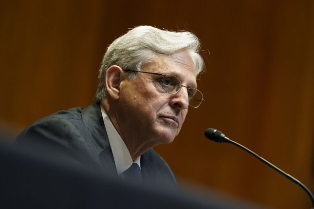 Attorney General Merrick Garland testified before Congress Wednesday that the Justice Department will refrain from seizing records from journalists in leak investigations. Pool photo by Susan Walsh/UPI