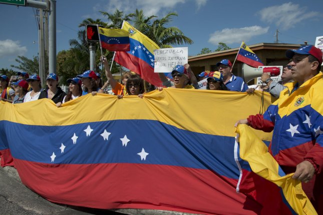Venezuela will suspend the sale of alcohol, fireworks and weapons two days before Sunday's parliamentary elections. File Photo by Gary I. Rothstein/UPI
