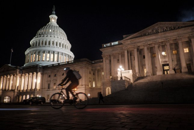 The Senate met into the evening as it tried to avert a government shutdown at midnight on Friday in Washington, D.C. Photo by Pete Marovich/UPI