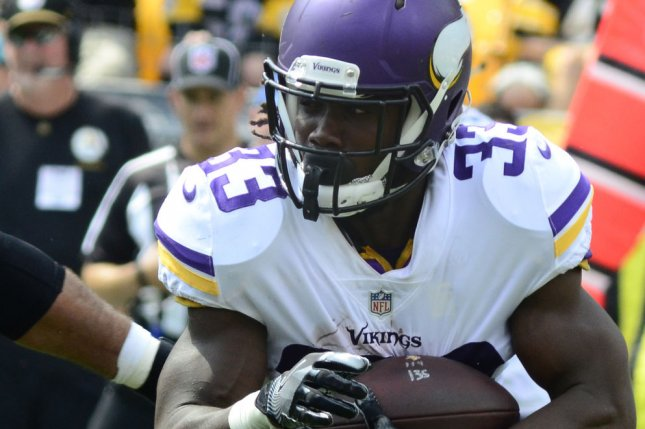 Minnesota Vikings running back Dalvin Cook looks for running room during a game against the Pittsburgh Steelers last season. Photo by Archie Carpenter/UPI