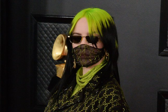 Billie Eilish arrives for the Grammy Awards held at Staples Center in Los Angeles on Sunday. Photo by Jim Ruymen/UPI