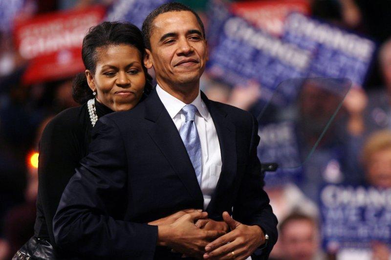 President Barack Obama and first lady Michelle Obama. (UPI Photo/John Angelillo)
