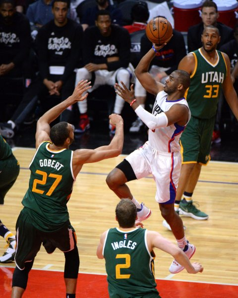 d285a3baa9d1 Chris Paul of the Los Angeles Clippers drives to the basket in a game  against the Utah Jazz. Paul was traded to the Houston Rockets in June.