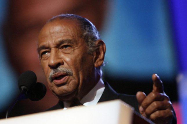 Rep. John Conyers was hospitalized in Detroit, amid a sexual harassment scandal, a family friend said Thursday. File photo by Brian Kersey/UPI