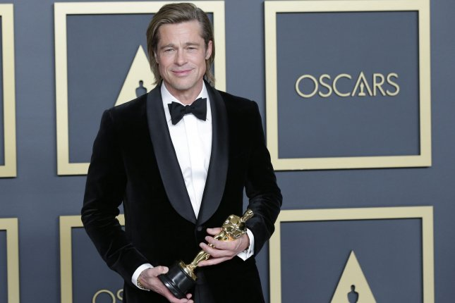 Brad Pitt won the Oscar for Best Actor in a Supporting Role for Once Upon A Time In Hollywood, File Photo by John Angelillo/UPI