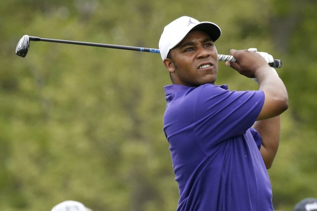 Harold Varner III had a share of the first-round lead at the 2020 Wyndham Championship on Thursday and will attempt to win his first career PGA Tour tournament this weekend in Greensboro, N.C. File Photo by John Angelillo/UPI